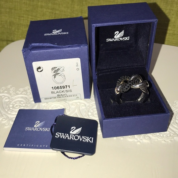 c2ff8e2cc Swarovski Jewelry | Manhattan Ring Black | Poshmark